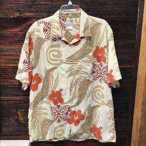 Quicksilver Comfort Short Sleeve Hawaiian Shirt LG